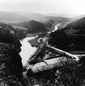 Am Zusammenfluss von Schmeie und Donau begann der neue Bahnabschnitt durchs Durchbruchstal