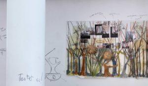 Montage und Malerei hinter Säule: Testet es!