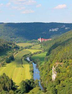Blick ins Junge Donautal