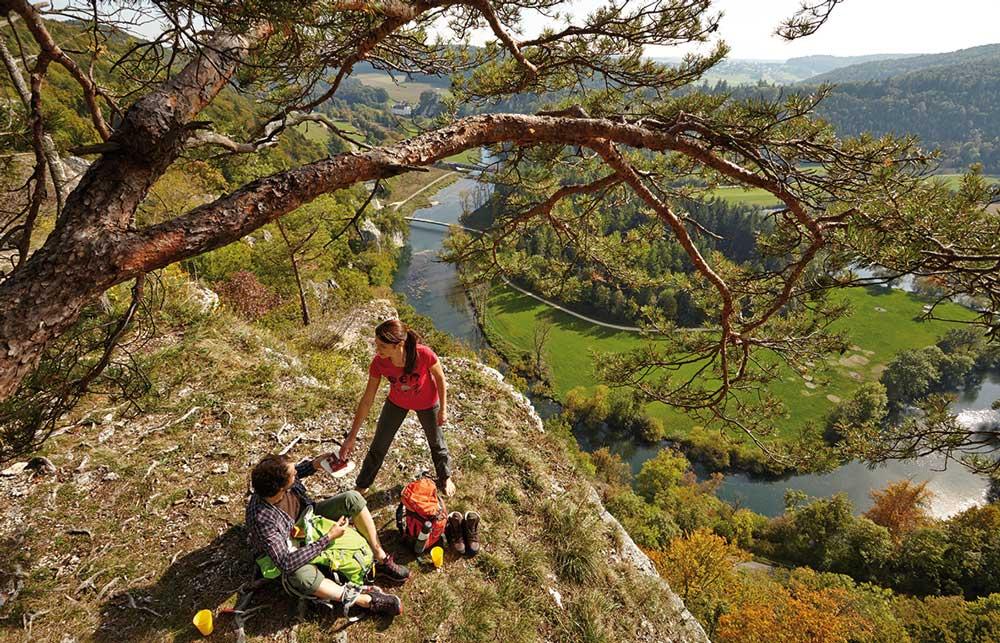 Wanderer Im Donautal DonauFelsenLäufe