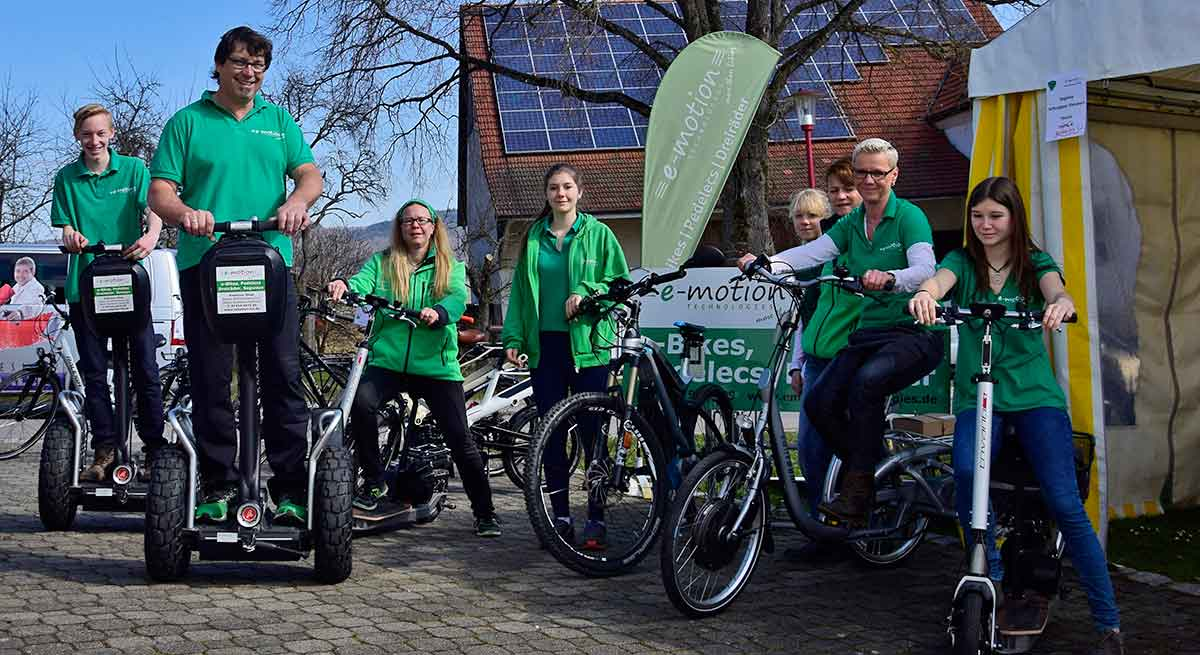 E-Biking Team von e-motion, Rietheim-Weilheim/Tuttlingen