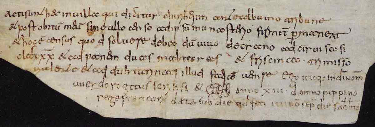 karolingische Urkunde