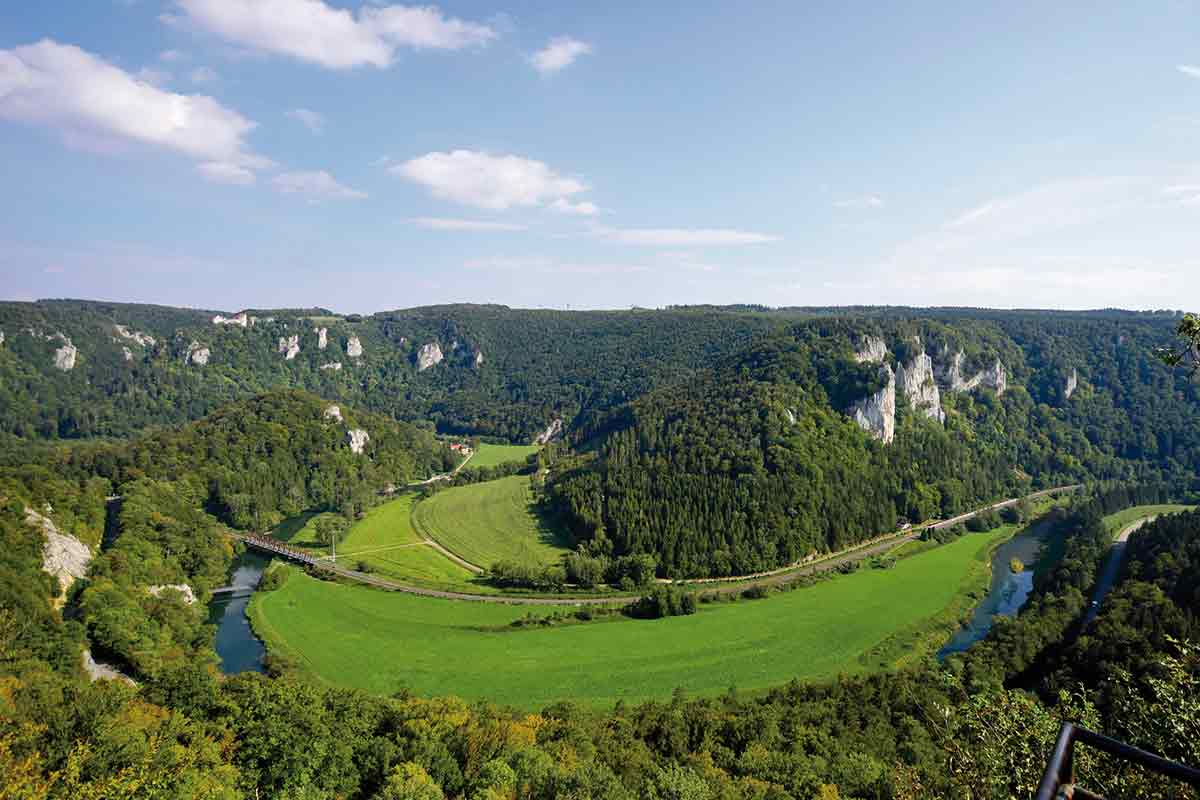 Blick ins Donautal bei Beuron