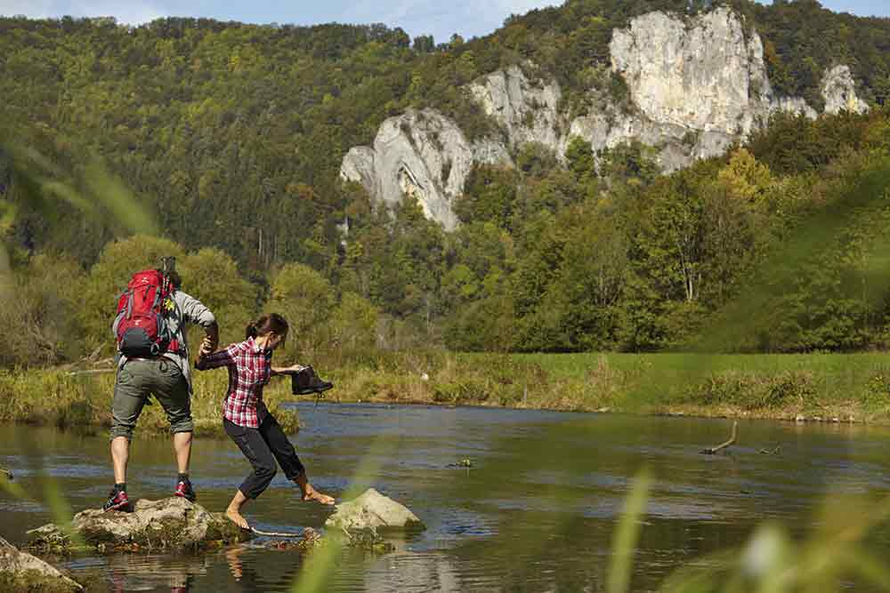 Wanderer im Donautal