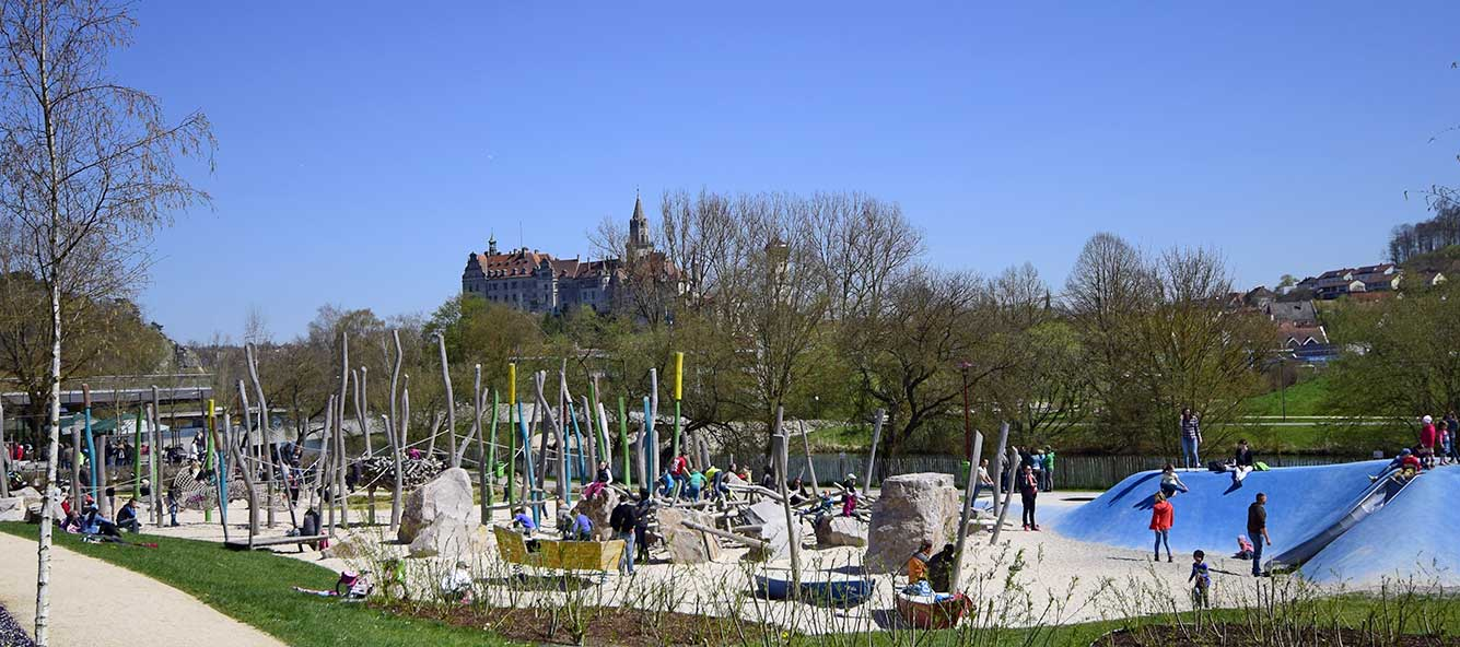 Spielplatz an der Donau in Sigmaringen