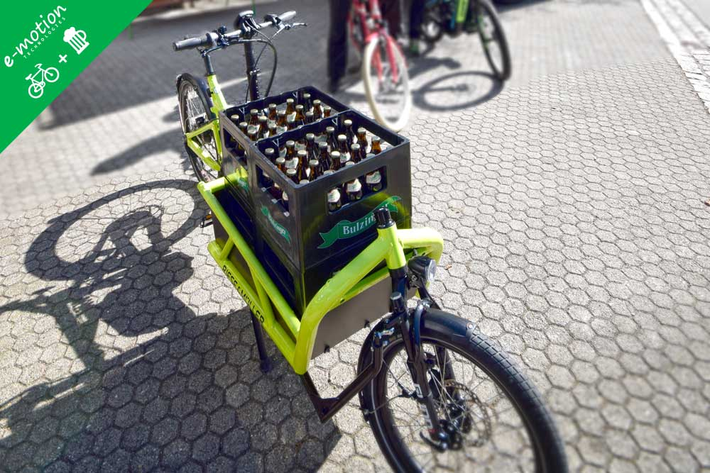 Transportrad mit Bierkisten