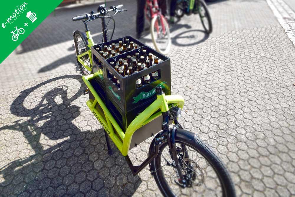 Transportrad mit Bierkisten