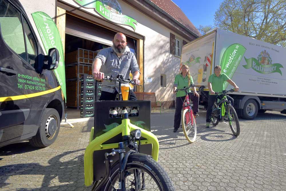 Sven Karamarko vor der Brauerei Bulzinger