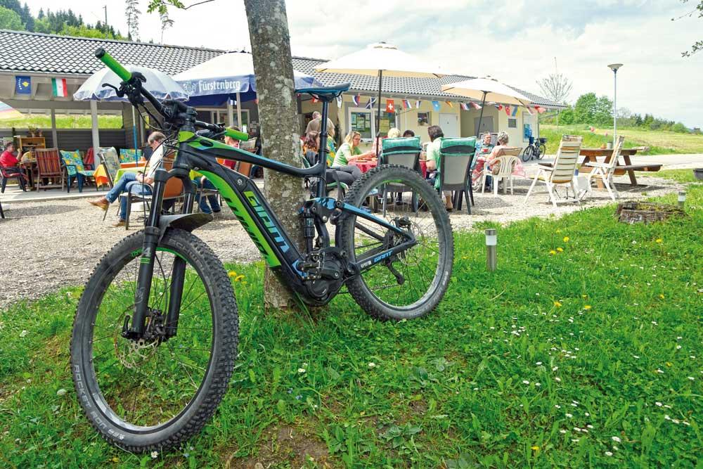 Fahrrad am Freizeitzentrum Immendingen