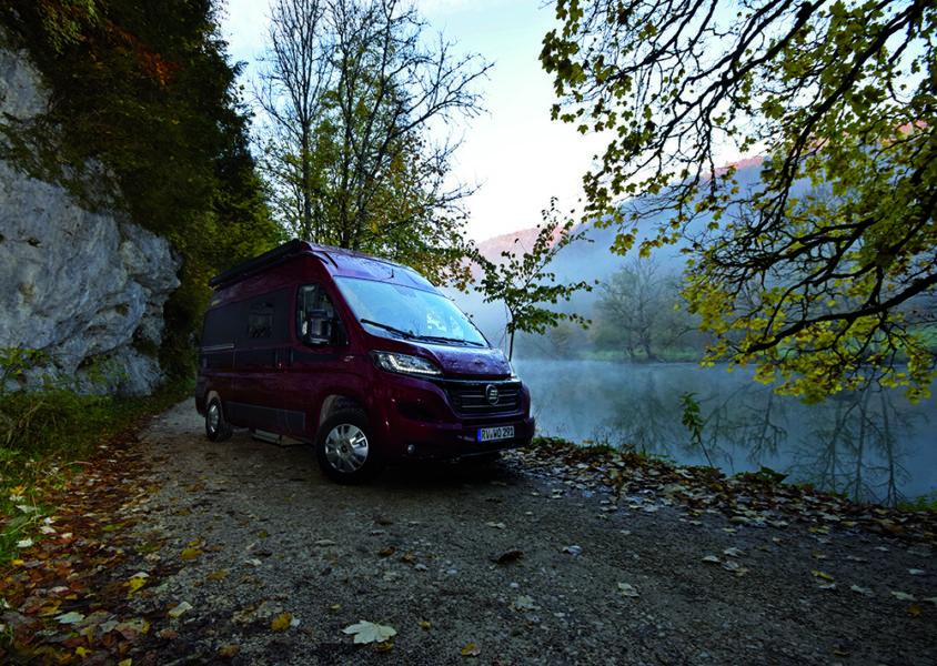 Wohnmobil an der Donau bei Fridingen