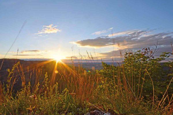 Sonnenuntergang vom Gräbelesberg