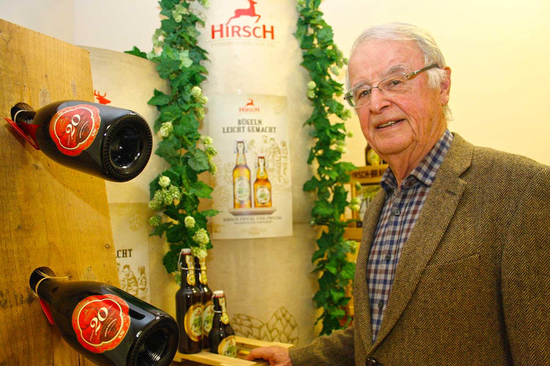Rainer Honer in der Hirsch-Brauerei