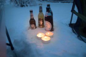 Wintergrillen Hirsch Bier DSC0512
