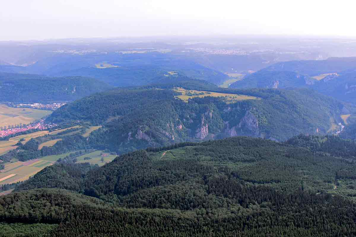 Luftbild Oberes Donautal